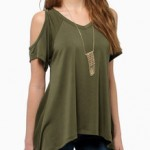 Tricouri ieftine off-shoulder(fara umeri)