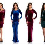 Top magazine cu rochii din catifea pentru Crăciun și Revelion