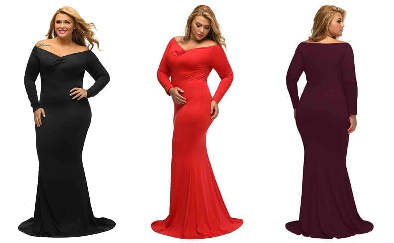 rochii de ocazie mărimi mari tip sirena