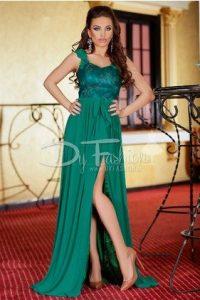 rochie verde de ocazie