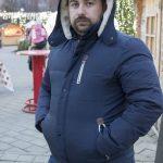 Haine măsuri mari – Geacă de iarnă ieftină pentru bărbați