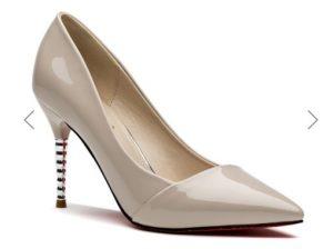 pantofi cununie culoarea șampaniei