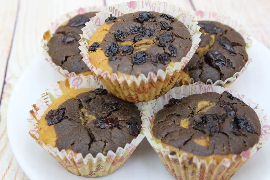 muffins de post cu merișoare