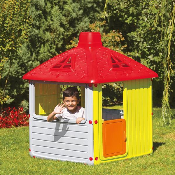 grădină de vis cu casuta-pentru-copii