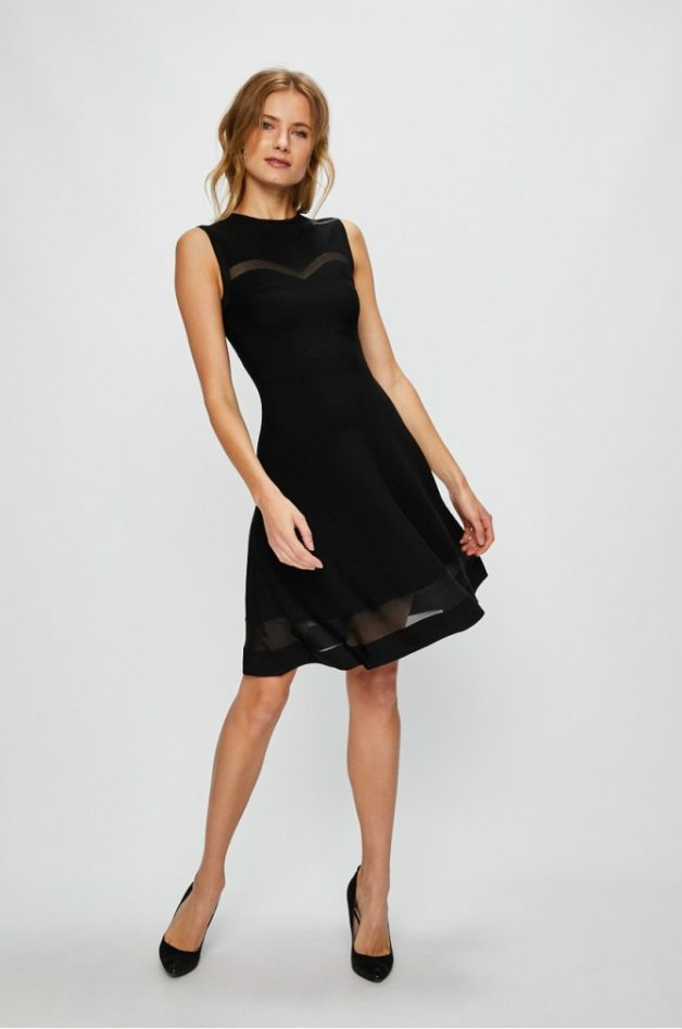 rochie neagra guess jeans