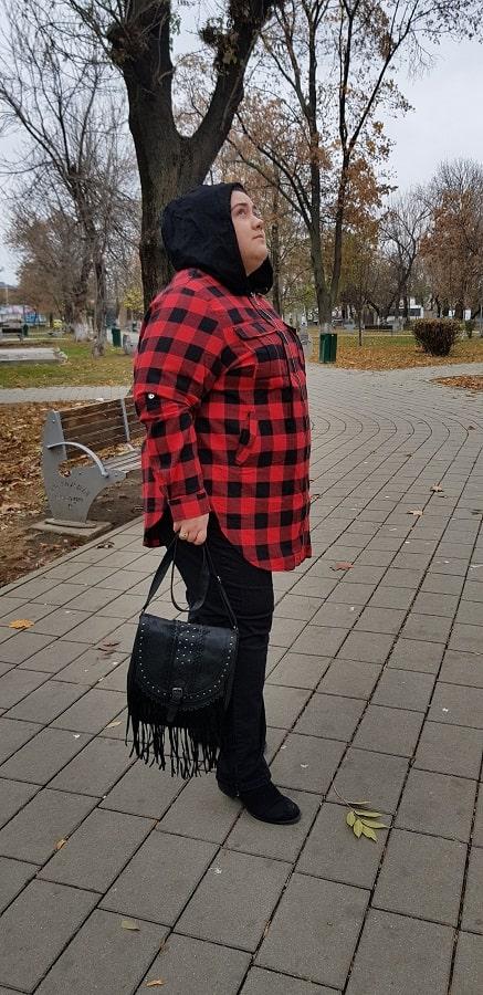 hanorac si geanta rosegal